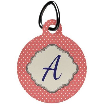 Personalized, Monogrammed Pet Tag - Dog or Cat