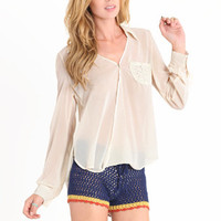 Go Getter Pocket Blouse - $32.50: ThreadSence, Women's Indie & Bohemian Clothing, Dresses, & Accessories