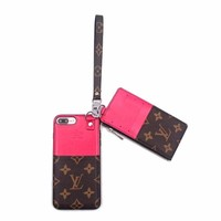 Pink Monogram Case + Card Holder Pouch