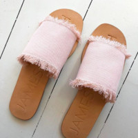 James Smith x Pink Denim On Duty Sandals