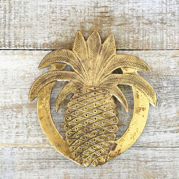 Trivet Brass Pineapple Hot Plate Brass Trivet Mid Century Kitchen Mid Century Pineapple Hot Plate Hollywood Regency Decor