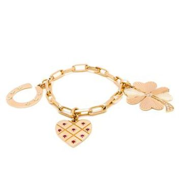 LOQUET | Love and Luck Charm Bracelet | brownsfashion.com | The Finest Edit of Luxury Fashion | Clothes, Shoes, Bags and Accessories for Men & Women