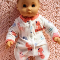 """15 inch Baby doll outfit """"Cute and Cuddly"""" Will fit Bitty Baby® Bitty Twins®  dress leggings socks headband fleece J1"""