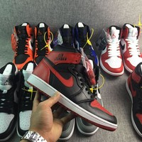 """Ready Stock"" aj1 Air Jordan 1 Retro High ""Rare Air"" Bred Men Sneaker"