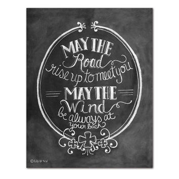 "Irish Blessing ""May the Road Rise Up to Meet You"" - Print"