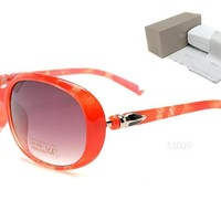 Dior Round Glasses Mirrored Flat Lenses Street Fashion Metal Frame Women Sunglasses [2974244644]