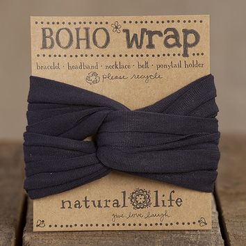 Charcoal  Boho  Wrap  From  Natural  Life