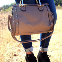 Fashion Handbag by Texas Leather {Taupe}