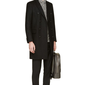 Ami Alexandre Mattiussi Black And White Wool Houndstooth Shirt