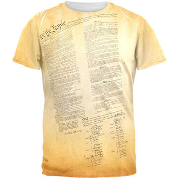 Constitution United States America All Over Adult T-Shirt