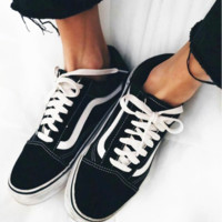 Vans Classics Old Skool Black Sneaker Fashion Black