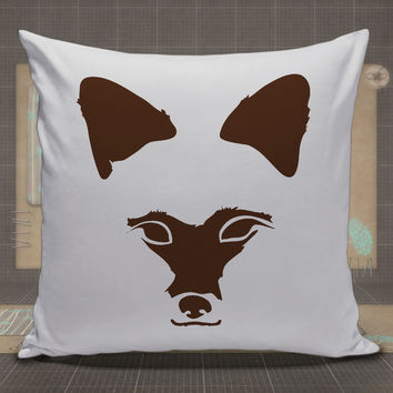 Brown-Fox-Face-Stretched-pillow-case,-pillow-cover,-cute-and-awesome-pillow-covers