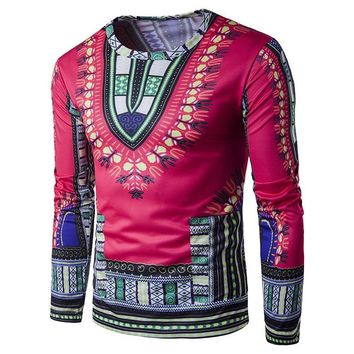 GPUNLTD Traditional  Style African Print Long Sleeve T-Shirt