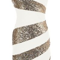 Holiday Swirl Dress | Black Gold Sequin Party Dresses | Rickety Rack