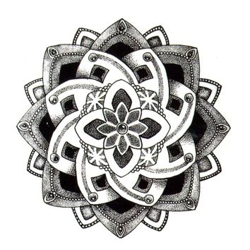 Lotus Flower Waterproof Temporary Tattoos Men harajuku henna tattoo Beauty Sleeve Tatoo sticker for woman rouge a levre fake