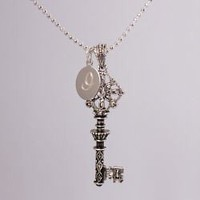 Engraved Journey to Success Key Necklace