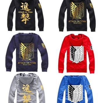 Cool Attack on Titan  Hoodie no  Hoodie Coat Cosplay Costumes Eren Levi Golden Hoodie Sweatshirt AT_90_11