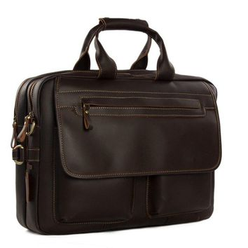 Handmade Full Grain Genuine Leather Business Satchel