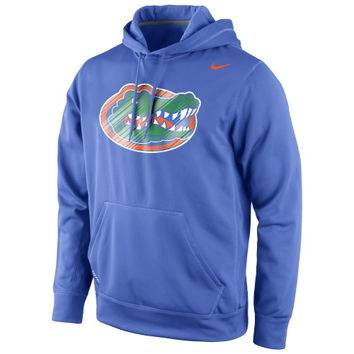 Florida Gators Nike Warp Logo Therma-FIT Hoodie - Royal Blue
