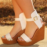 I Will Remember You Wedges: White