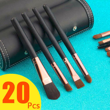 20Pcs Professional Powder Makeup Brushes Set Foundation Eye shadows Nose Lip Make Up Brush Tool Cosmetics Kits