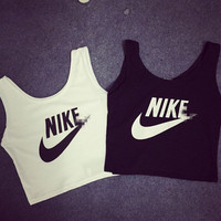 """NIKE"" Short exposed navel vest [11004675399]"