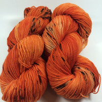 Hand Dyed Yarn, Ultra Soft Merino Superwash, Pumpkin Spice and Everything Nice, Fingering Yarn, Superwash Merino, Yarn, multicolored
