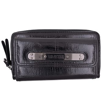 Kenneth Cole Unlisted Black Urban Organizer Wallet W/ Large Logo