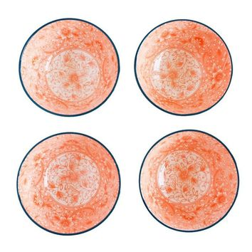 Floral Orange/Navy Bowl
