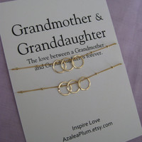 GRANDMOTHER Mother Daughter. 50th Birthday Gift for Her.Grandmother Granddaughter. 60th Birthday Grandmother Necklace