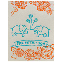 Feel Better Elephants Get Well Card