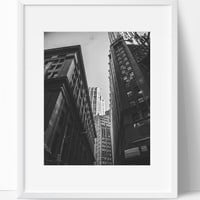 Concrete Jungle Wall Art Photography, Black and White Modern Art, Prints