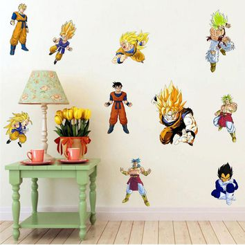 Removable DIY 3d dragon ball wall stickers for children's room