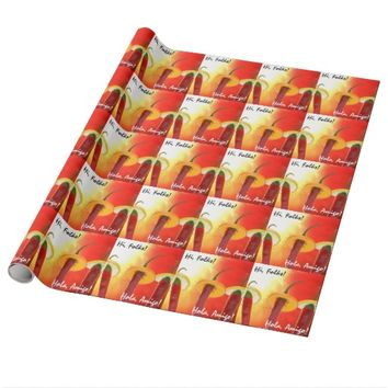 The Red, The Hot, The Chili Wrapping Paper