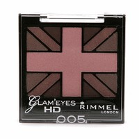 Rimmel Glam' Eyes HD Quad Eye Shadow Palette, English Rose