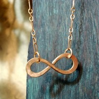 Infinity to Eternity Gold filled Necklace | PendragonJewelry - Jewelry on ArtFire