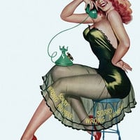 Pin Up Poster Vintage Pinup Girl Poster On