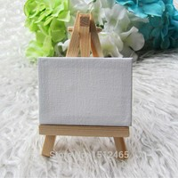 24 sets Mini Display Easel WIth Canvas