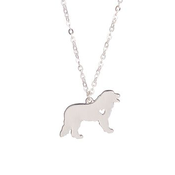 Fashion Gold Silver Explosion Models Cute Bernese Mountain Dog Necklace Animal Jewelry Necklaces Dog Lovers to the Dear Friends