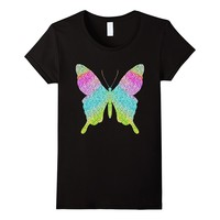 Colorful Butterfly Rainbow Glitter Shirt Butterfly Gifts