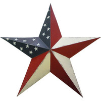 "Transpac Imports, Inc Americana 24"" Hand Painted Metal Star"