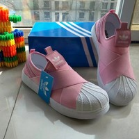 """Adidas"" Women Sport Casual Crisscross Bandage Cloth Sneakers Shell Head Plate Shoes"