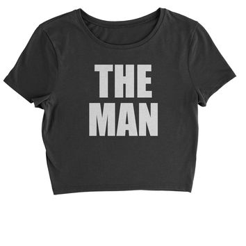 The Man Wrestling Cropped T-Shirt