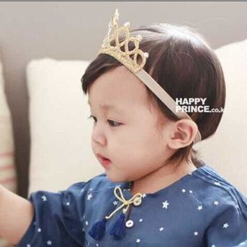 ESBONJ 2016 New baby newborn infant headbands children's crown baby elastic headband girls hair accessories