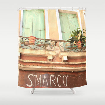 Shower Curtain - San Marco Venice Italy - Italy Shower Curtain - Photo Shower Curtain - Bathroom Shower Curtain - Italy - Gifts for Her