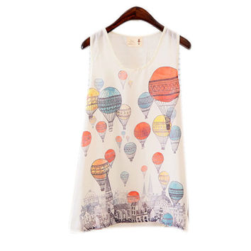 Hot Women Fitted Sleeveless T Shirt Graphic Printed T Shirt Vest Tank T Shirt Tops