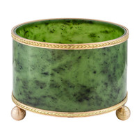 Faberge Important Nephrite Cache Pot by Michael Perchin