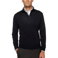 The Navy Beck Henley Sweater