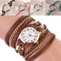 Wristwatch Creative Women Braided Rope Lanyards Watch Bracelet Watch Ladies Wristwatch = 1956917060