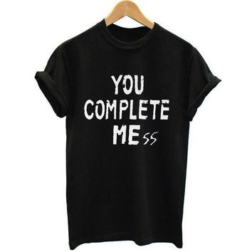 ESBHY9 New You Complete Mess Me 5SOS Shirt Five 5 Seconds Of Summer T Shirt T-shirt Luke Hemmings women Clothing